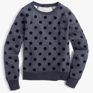 Jcrew Polka Dot Sweatshirt